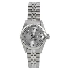 Pre-owned Rolex Datejust Stainless Steel 26mm Womens Watch ($3,249) ❤ liked on Polyvore featuring jewelry, watches, stainless steel wrist watch, rolex jewelry, bezel jewelry, rolex and dial watches