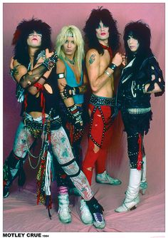 "A great poster of the hard rock band Motley Crue! Vince Neil, Tommy Lee, Nikki Sixx, and Mick Mars in full glam metal regalia in Ships fast. ""Feelgood"" and check out the rest of our excellent selection of Motley Crue posters! Big Hair Bands, Hair Metal Bands, 80s Metal Bands, 80s Hair Metal, Hard Rock, Iron Maiden, Ramones, Motley Crue Poster, Motley Crue Live"