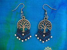 Macrame earrings. Tree of life. Handmade earrings.