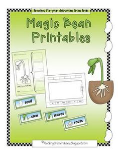 Magic Bean Printables (Lima Bean Fun) Use with Jack and the beanstalk
