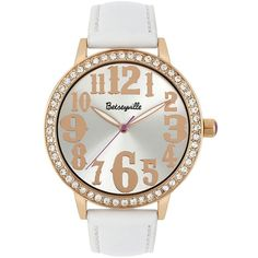Betseyville(R) Womens Crystal Accent Watch ($30) ❤ liked on Polyvore