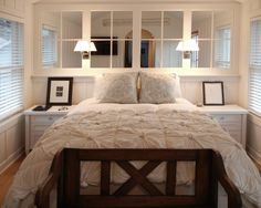 Take advantage of mirrors in tiny bedrooms