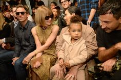North West sits front row with her mum Kim Kardashian, Anna Wintour and Riccardo Tisci