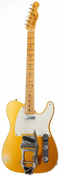FENDER Custom order telecaster 52 frost gold - Guitares électriques - Custom Shop | Woodbrass.com