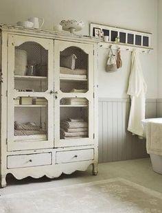 Shabby Chic Bathroom Armoire