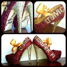 Marine shoes <3 *these are so cute for military wives!*