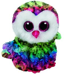 bff4a891c85d Amazon.com  TY Beanie Boos OWEN - multicolor owl reg Plush  Toys   Games