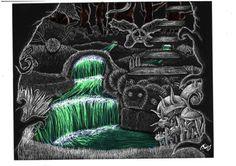 illustration_grattage_scratchboard_wonder_woods_digital_dream
