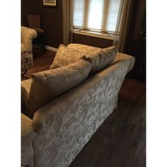 Traditional Taupe Brocade Couch and Loveseat - A Pair For Sale - Image 4 of 5 Small Couch, Couch And Loveseat, Sofa Shop, Love Seat, Taupe, Traditional, Furniture, Design, Home Decor