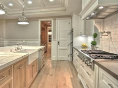 floors are solid french white oak with custom stain