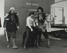 Roman Polanski during the filming of 'Macbeth'.