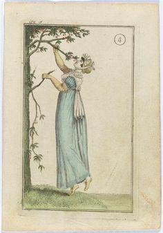 Fashion plate, ca 1799, Journal des Dames et des Modes (?)