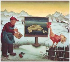 Painting in winter  - Ivan Generalic