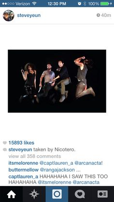 Taken by  Nicotero. Steven Yeun's Instagram. How much do I love this picture!!!