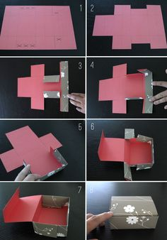 ideas diy box template packaging for 2019 Papier Diy, Diy And Crafts, Paper Crafts, Foam Crafts, Paper Art, Cardboard Crafts, Decor Crafts, Diy Box, Make Box