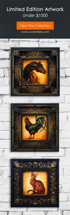 """The """"12 x 12 Collection"""" is a series of small paintings created in limited editions of just 25 pieces, for collectors wanting original artworks under $1000. #artdecor #homedecor Small Paintings, Large Painting, Animal Paintings, Figure Painting, Tuscan Design, Equine Art, Decorating On A Budget, Light And Shadow, Pyrography"""