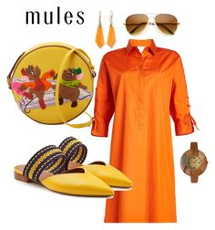 """""""Mules"""" by ks-sk on Polyvore featuring Olympia Le-Tan, Alexis Bittar, MaxMara, Olivia Pratt and Malone Souliers"""