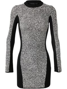 ALEXANDER WANG Rubberised Tweed Dress
