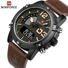 Men Watches Luxury Sport Quartz Digital Watch Men's Waterproof Wristwatches Man Leather Clock Relogio Masculino