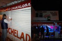 """En los establecimientos """"Micheladas Las Chakalosas"""" y """"Mamá no lo sabe"""" se encontraron varias dosis de drogas; participaron en el operativo la PGJE, la Policía Federal y la SSP de ..."""