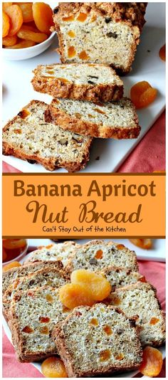 Banana Apricot Nut Bread – Can't Stay Out of the Kitchen Brunch Recipes, Bread Recipes, Cooking Recipes, Brunch Ideas, B Recipe, Cinnamon Chips, Main Dish Salads, Banana Nut Bread, Bread And Pastries