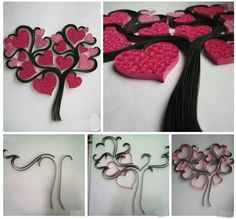 Quilling heart-tree