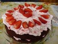 csokis eper torta - Google Search
