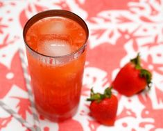 Strawberry Tequila Daisy    2 oz Tequila  1/2 oz Triple Sec  1/2 oz Lemon Juice  1/2 oz Lime Juice  1/2 oz Simple Syrup  Soda Water  2-3 Strawberries    Rinse and hull the strawberries.  Add them to a highball glass and combine with the Triple Sec, both juices, and syrup.  Muddle well.  Add the Tequila (make sure you use 100% agave!) and add a few ice cubes.  Top with soda water and enjoy.