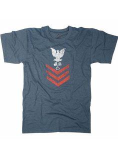 Rothco+Vintage+T-shirts+Blue+w.+''NAVAL+RANK+INSIGNIA''+logo