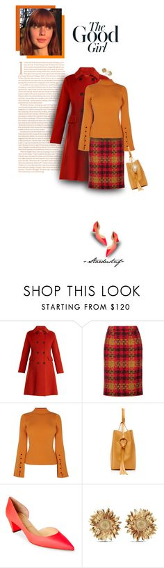 """Plaid Skirts ~ The Good Girl"" by stardustnf ❤ liked on Polyvore featuring Trilogy, Weekend Max Mara, Miu Miu, Karen Millen, Nina Ricci, Christian Louboutin and Asprey"