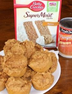 Apple spice muffins are made with only 3 ingredients! I used spice cake, apple sauce and a chopped up fresh apple. A moist, filling and easy muffin to make. All You Need Is, 2 Ingredient Pumpkin Muffins, Caramel Rolls, Lemon Brownies, Chocolate Banana Muffins, Chocolate Cherry, Appetizer Sandwiches, Spice Cake Mix, Spiced Apples
