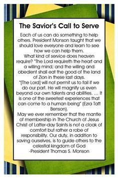 The Saviors Call to Serve