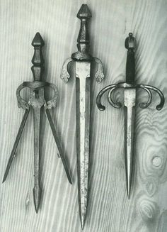Trident sword catcher daggers.