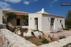Trifilianika Stone House at Kythira-Properties - Houses for Rent in Nisi, Attiki, Greece Rent A Villa, Home Building Tips, Samos, 3 Bedroom House, Spacious Living Room, Inspired Homes, Open Plan, Renting A House, Home Renovation