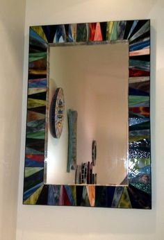 Multicolor Stained Glass Mosaic Mirror by ScottMosaics on Etsy, $1250.00