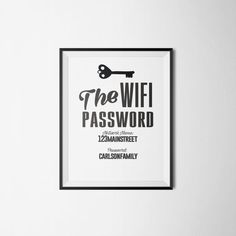 1000 ideas about wifi password on pinterest wifi password printable guest room sign and. Black Bedroom Furniture Sets. Home Design Ideas