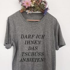 Fairtraide Mode: lässiges T-Shirt mit coolem Spruch, Sarkasmus lebt / fairtrade fashion: casual t-shirt with cool saying, sarcastic joke made by pension via DaWanda.com (Shirt Diy Ideas)