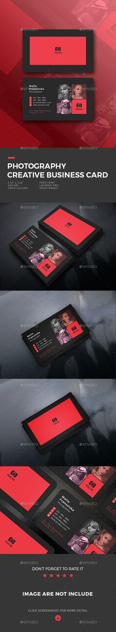 Photography Creative Business Card - Business Cards Print Templates