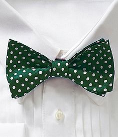Cremieux Double Dot Silk Bow Tie #Dillards Double Dot, Green Bow Tie, Tie Shop, Silk Bow Ties, Green Dot, Dillards, Dots, Collection, Shopping