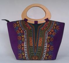 TOLA DASHIKI ANKARA BAG (PURPLE)