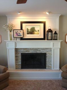 Small Living Room with Corner Fireplace. 20 Best Of Small Living Room with Corner Fireplace. Future Home Idea Love the Corner Fireplace and Big Windows Farmhouse Fireplace Mantels, Faux Fireplace, Fireplace Remodel, Living Room With Fireplace, Fireplace Surrounds, Fireplace Design, Home Living Room, Fireplace Ideas, Mantel Ideas