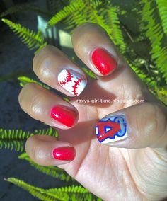Angel's Baseball nails