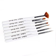 7pcs Nail Art Brushes With White Handle