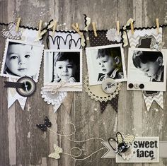 Sweet Face scrapbook layout by ScrapGoo