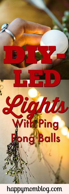 A fun DIY project to do with the family using Christmas LED lights and Ping Pong Balls. These Ping Pong Ball lights are the perfect addition to your Christmas Decor!