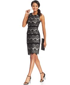 Lace shutter pleat dress plus size