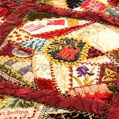The Marianne Gibson Quilt is one of the finest surviving examples of a crazy patchwork quilt in the world.