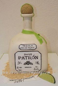 Silver Patron Bottle Cake  By: shaynajune