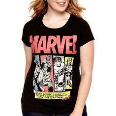 Reckless, Short-Sleeve Graphic T-Shirt - Plus Black ❤...