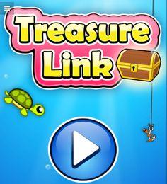 Mache eine Reise in die Tiefsee und spiele Treasure Link auf Spieleteddy.de